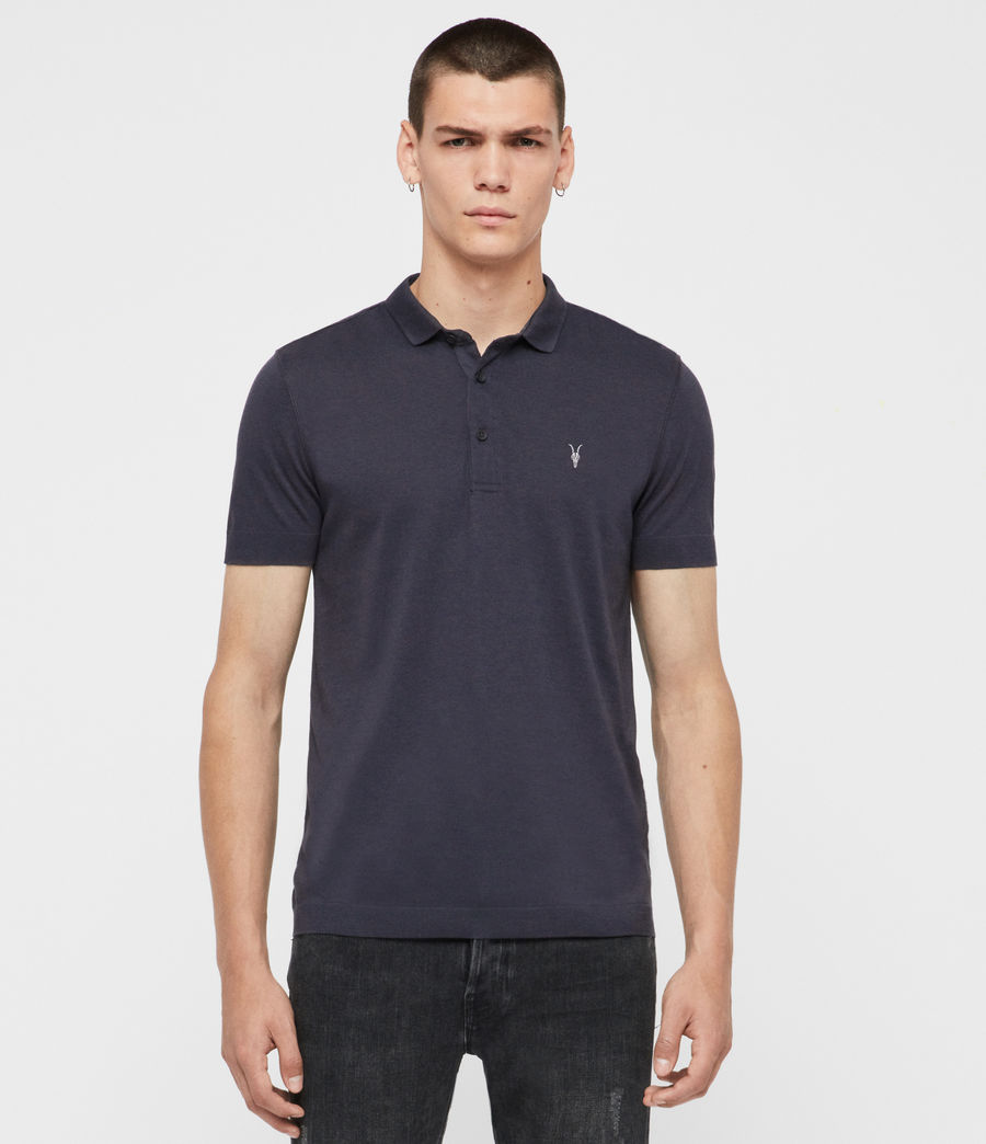 Herren Parlour Short Sleeve Polo Shirt (pier_blue) - Image 1