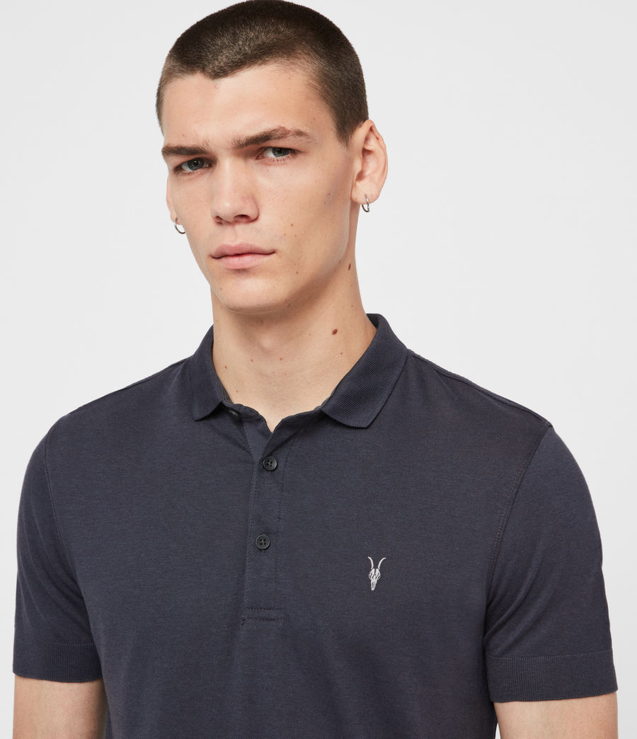Herren Parlour Short Sleeve Polo Shirt (pier_blue) - Image 2