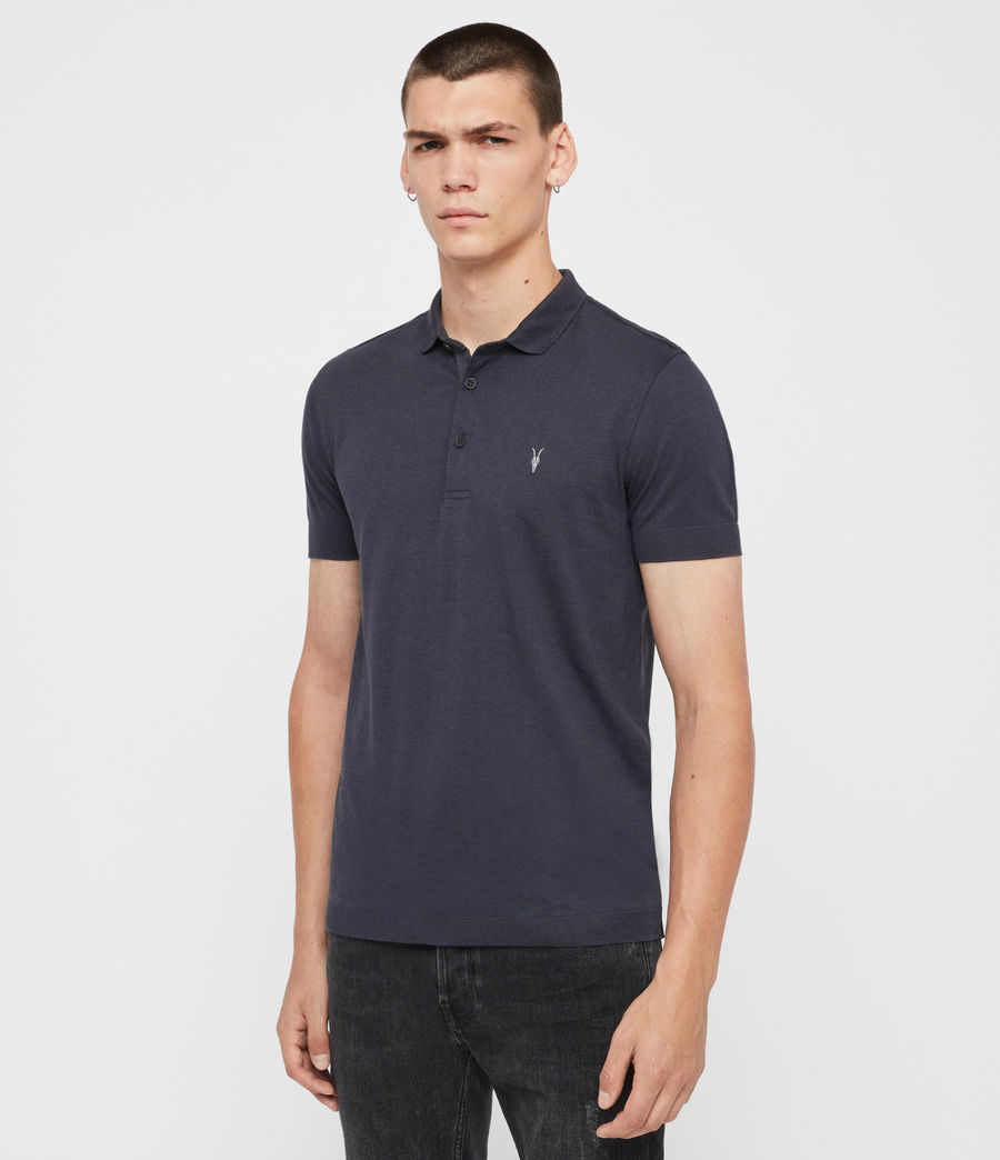 Herren Parlour Short Sleeve Polo Shirt (pier_blue) - Image 3