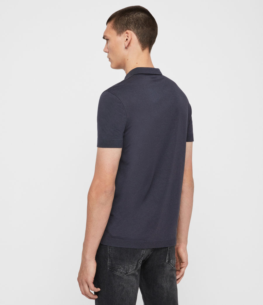 Herren Parlour Short Sleeve Polo Shirt (pier_blue) - Image 4