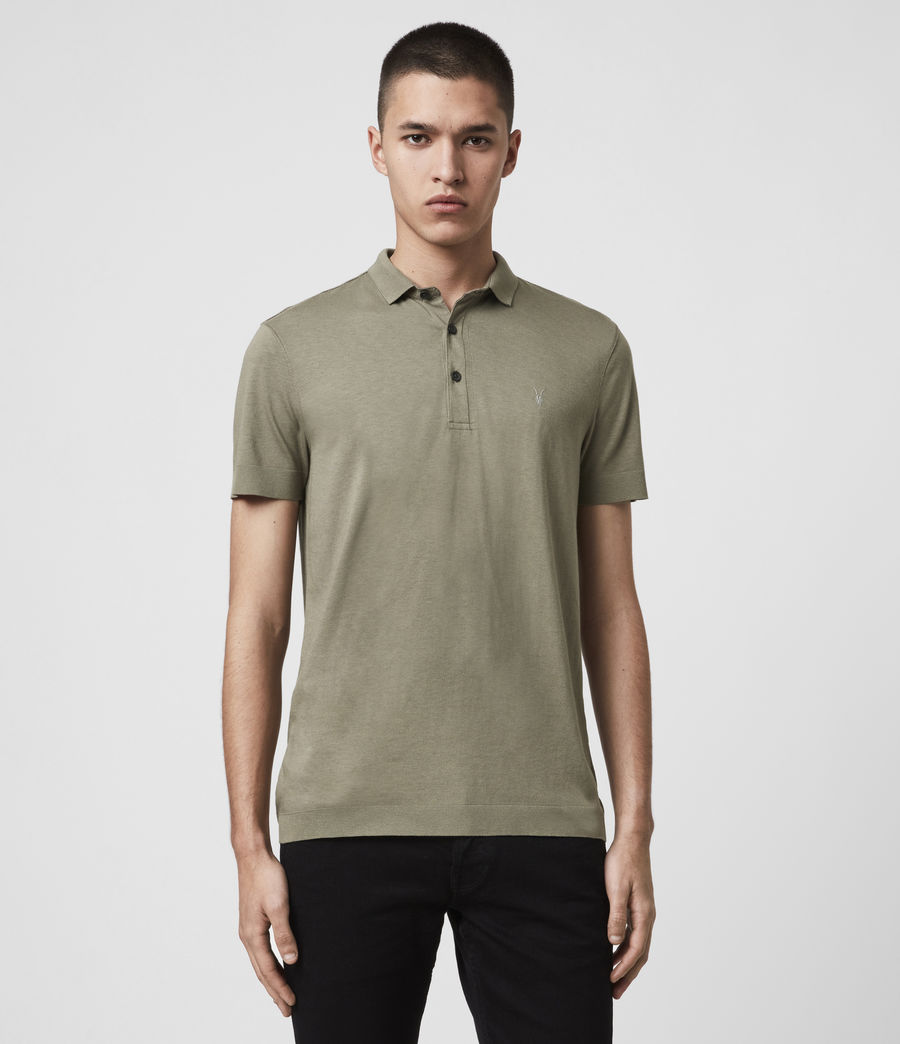 Men's Parlour Short Sleeve Polo Shirt (black) - Image 1
