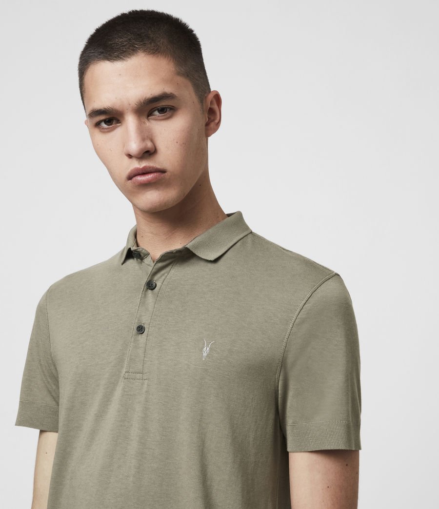 Men's Parlour Short Sleeve Polo Shirt (black) - Image 2