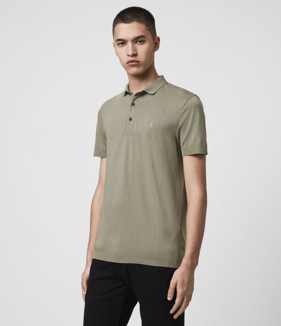 Men's Parlour Short Sleeve Polo Shirt (black) - Image 4