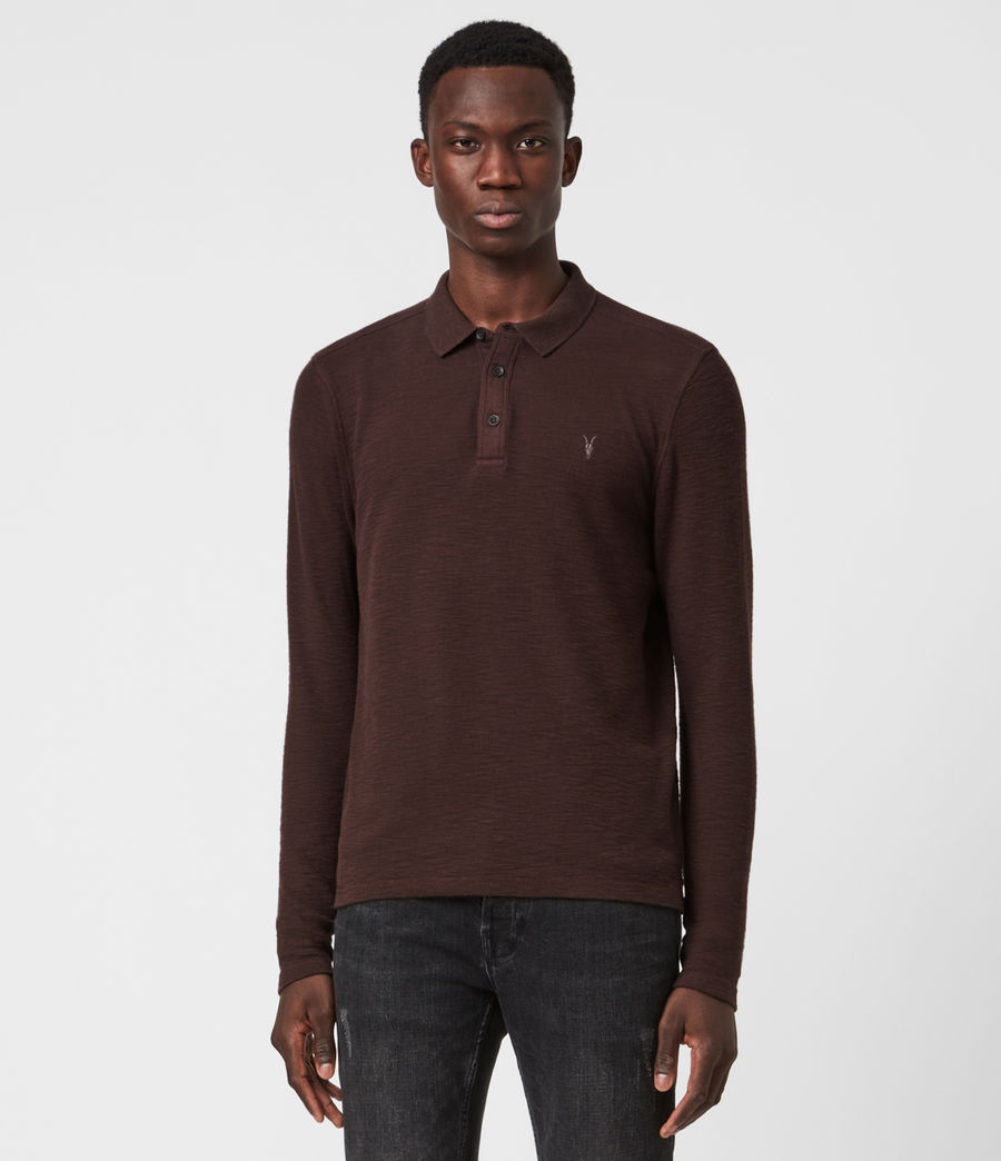 Men's Muse Long Sleeve Polo Shirt (flint_grey) - Image 1
