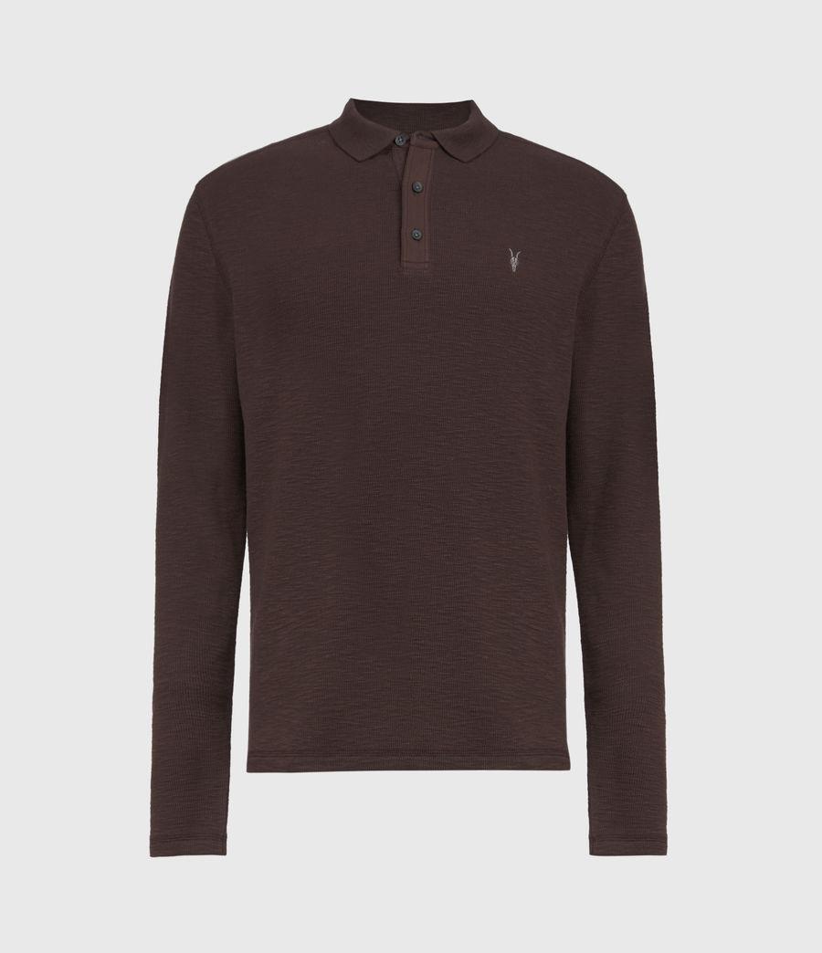 Men's Muse Long Sleeve Polo Shirt (flint_grey) - Image 2