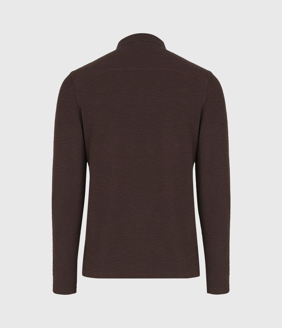 Men's Muse Long Sleeve Polo Shirt (flint_grey) - Image 3
