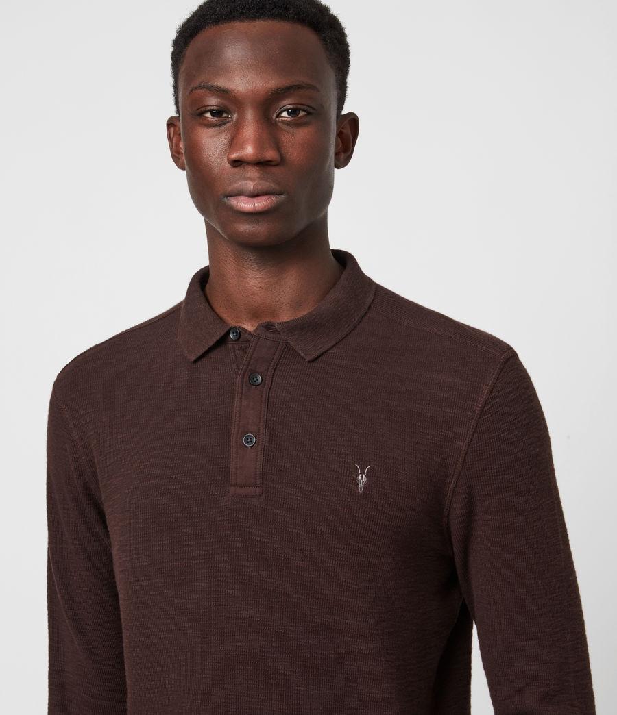 Men's Muse Long Sleeve Polo Shirt (flint_grey) - Image 4