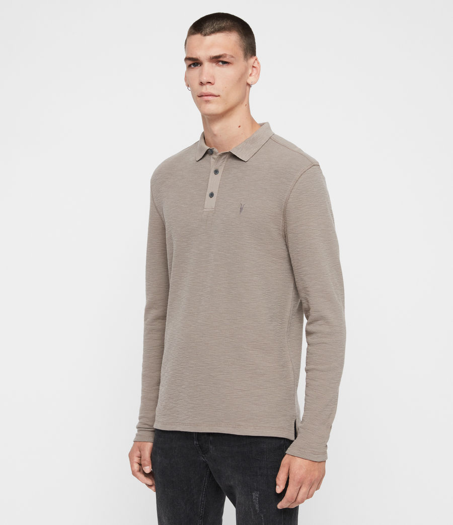 Men's Muse Long Sleeve Polo Shirt (coal_grey) - Image 4