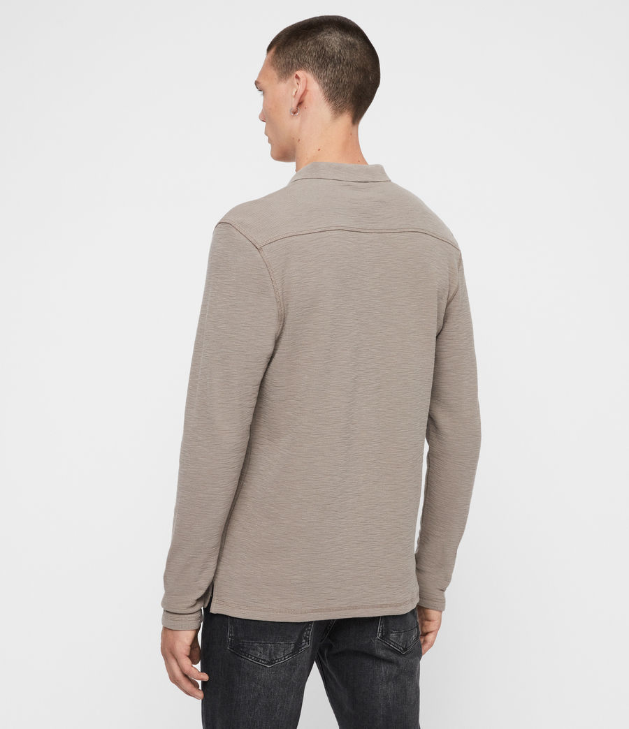 Men's Muse Long Sleeve Polo Shirt (coal_grey) - Image 5