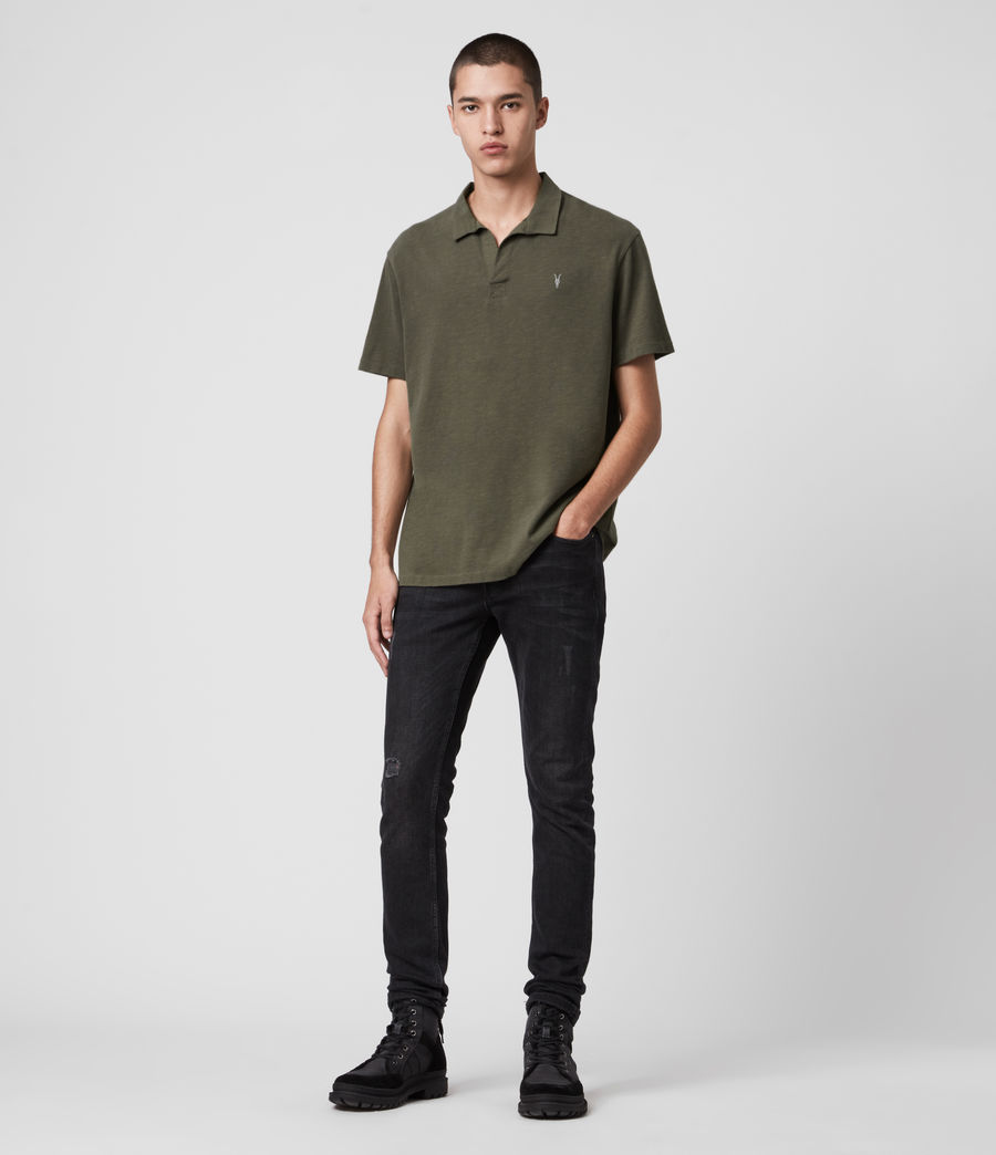 Mens Ryker Polo Shirt (burnt_khaki) - Image 3