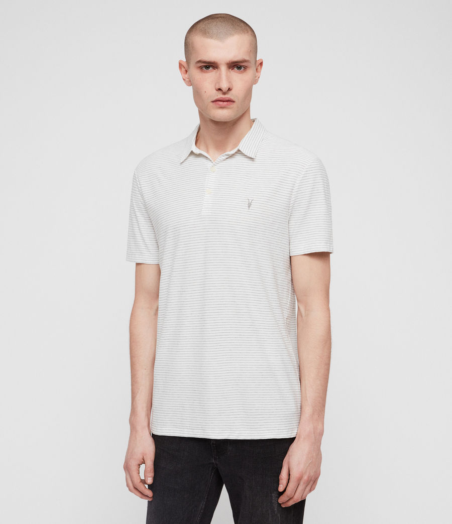 Men's Raphael Polo Shirt (white_grey) - Image 1