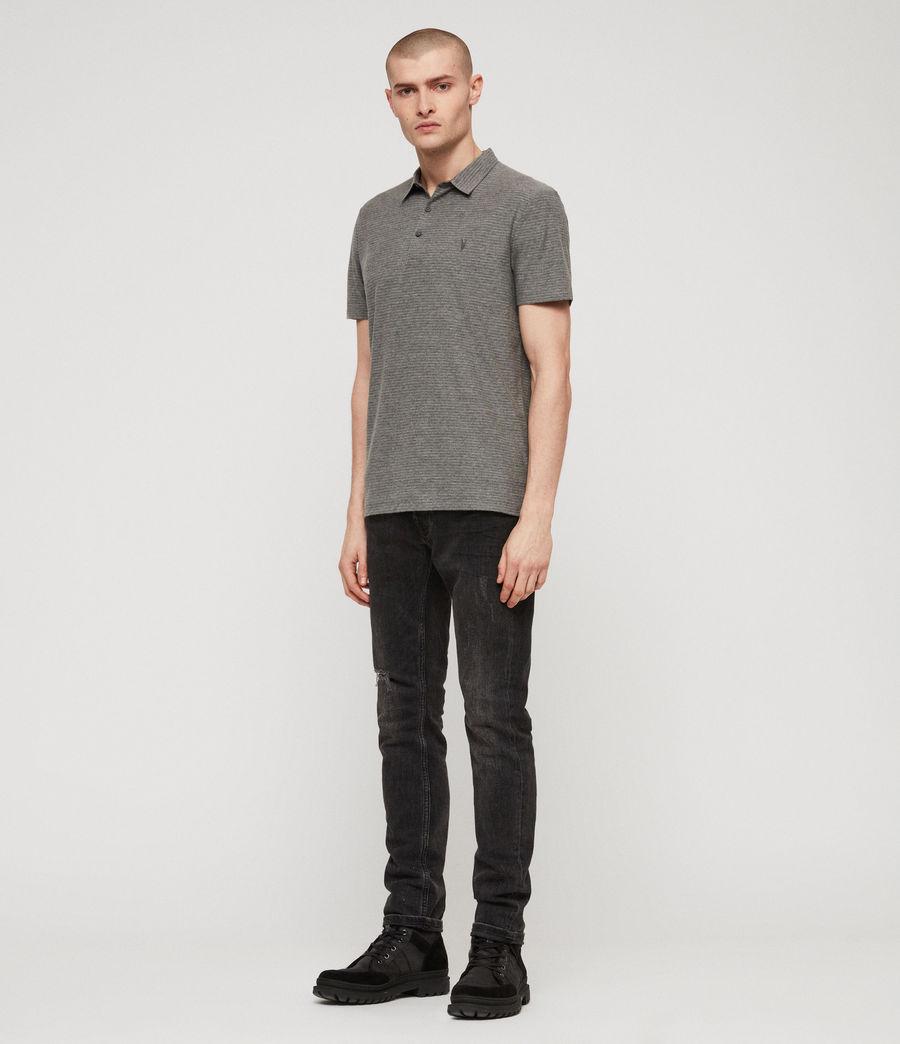 Men's Raphael Polo Shirt (grey_white) - Image 2