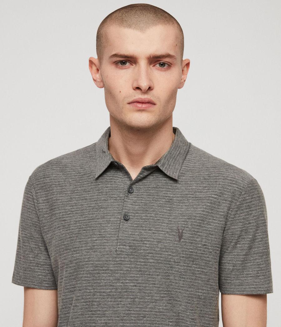 Men's Raphael Polo Shirt (grey_white) - Image 3