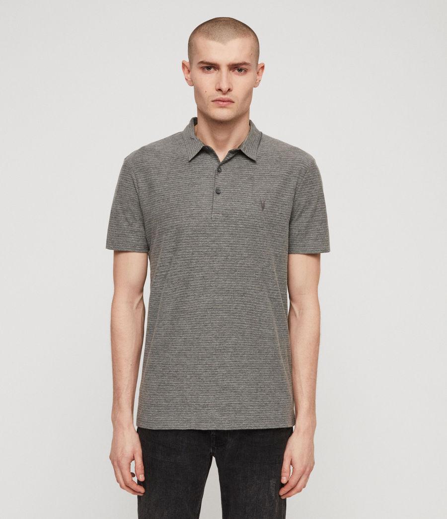 Men's Raphael Polo Shirt (grey_white) - Image 4