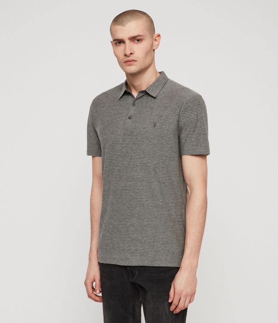 Men's Raphael Polo Shirt (grey_white) - Image 5