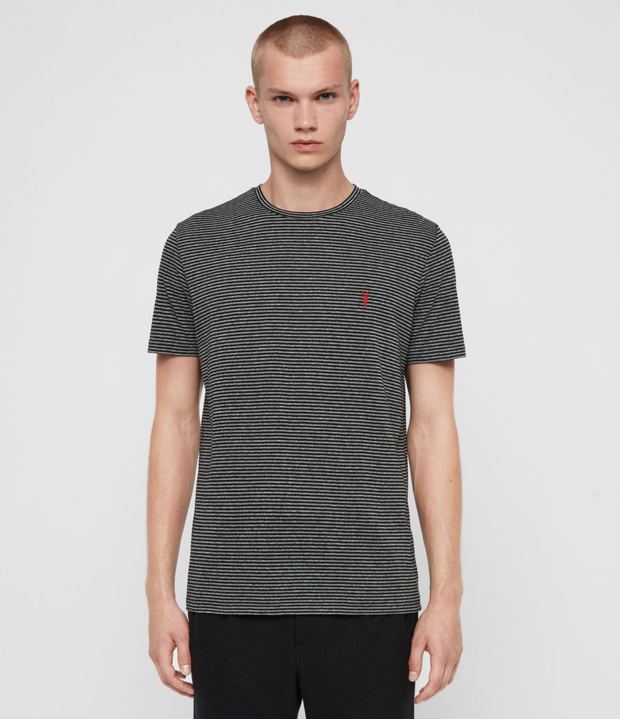 Men's Dalton Crew T-Shirt (grey_marl_black) - Image 1