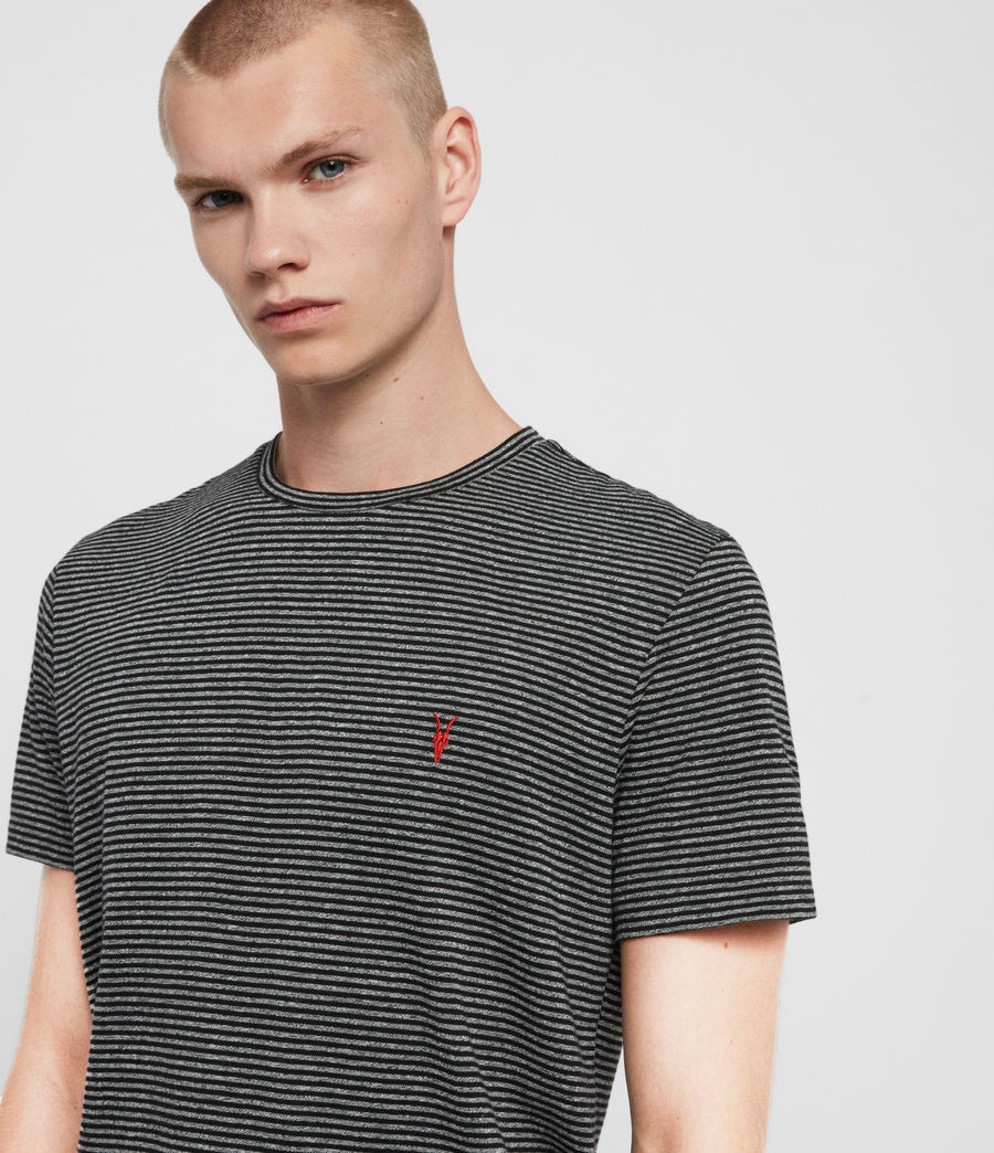 Men's Dalton Crew T-Shirt (grey_marl_black) - Image 2