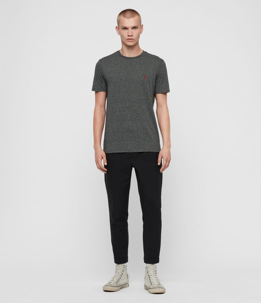 Men's Dalton Crew T-Shirt (grey_marl_black) - Image 3