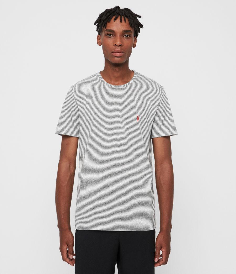 Hombres Dalton Crew T-Shirt (gry_marl_chalk_wht) - Image 1