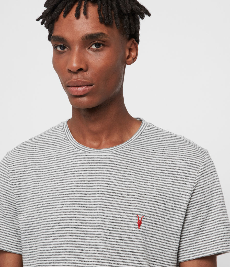 Mens Dalton Crew T-Shirt (gry_marl_chalk_wht) - Image 2