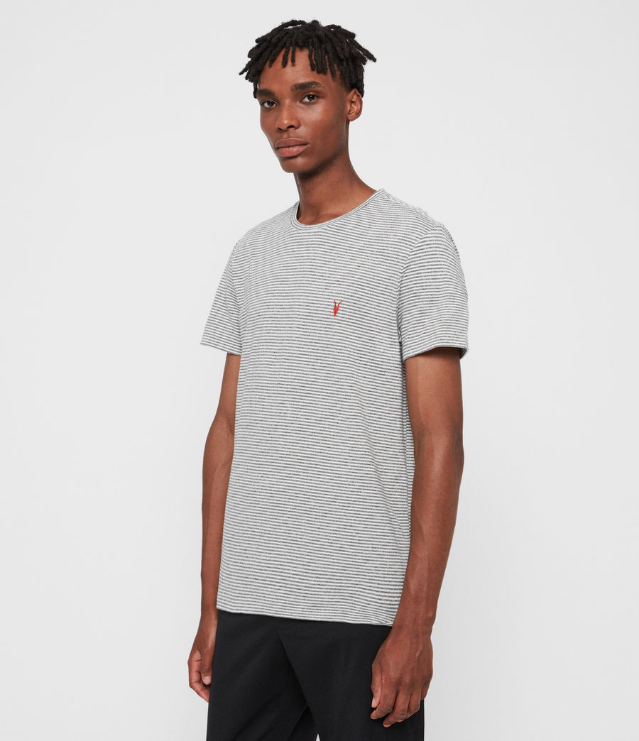 Hombres Dalton Crew T-Shirt (gry_marl_chalk_wht) - Image 4