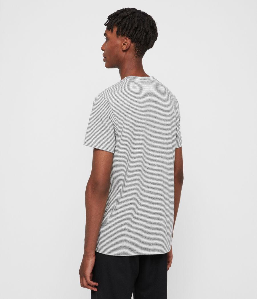 Hombres Dalton Crew T-Shirt (gry_marl_chalk_wht) - Image 5