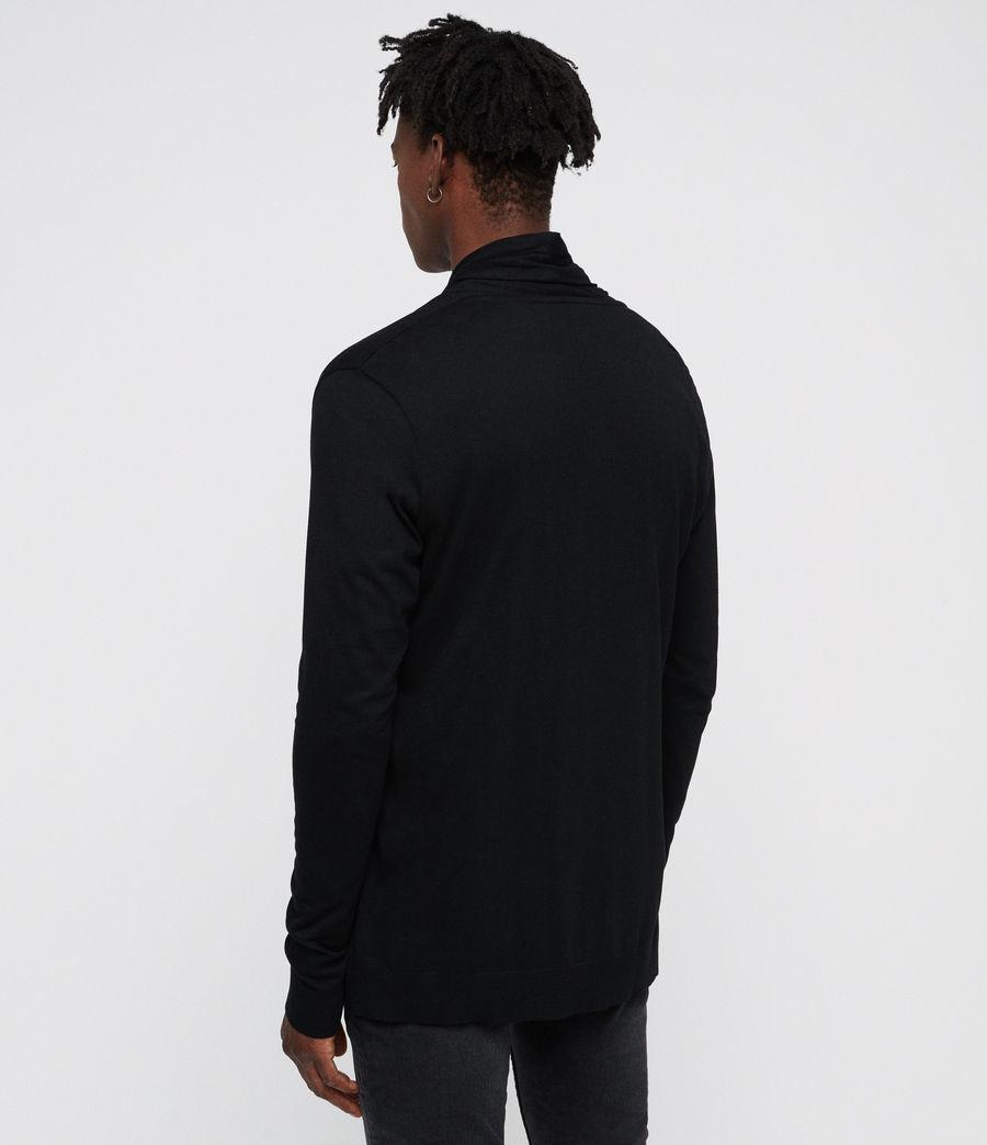 Hombre Parlour Open Cardigan (jet_black) - Image 4