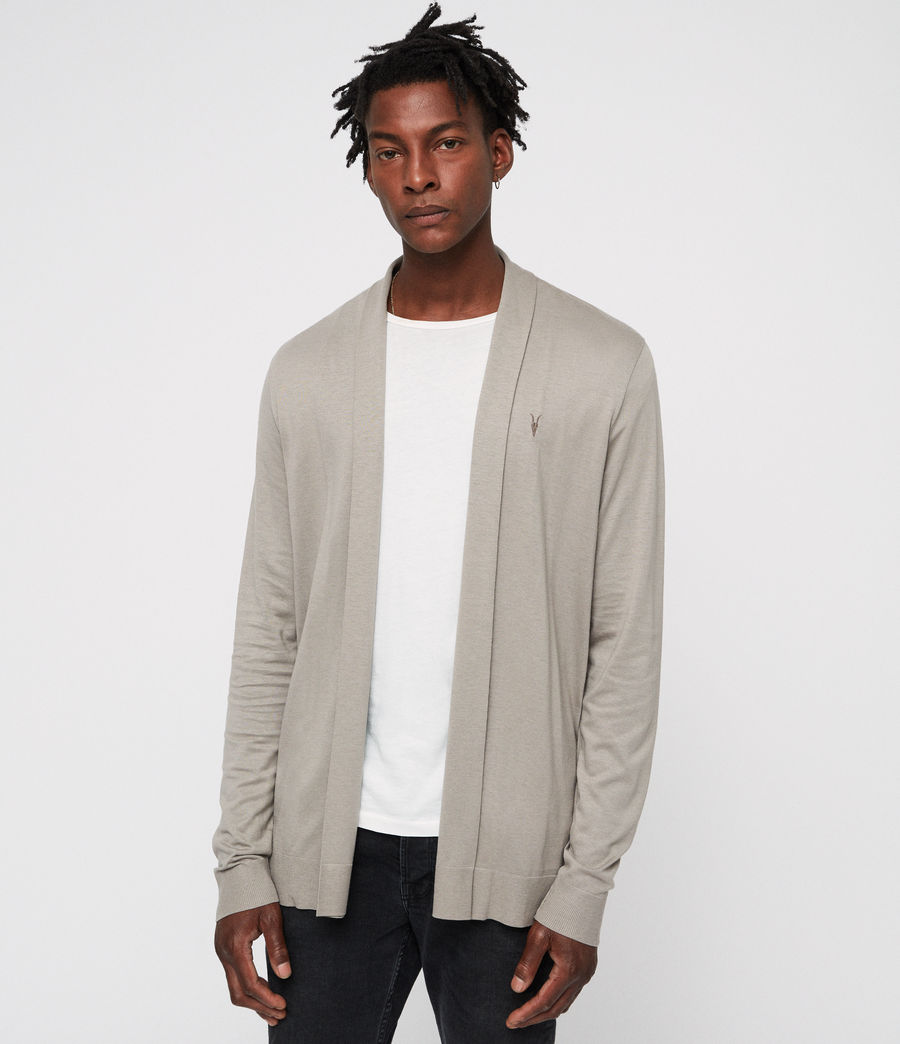 Men's Parlour Open Cardigan (mine_grey) - Image 1