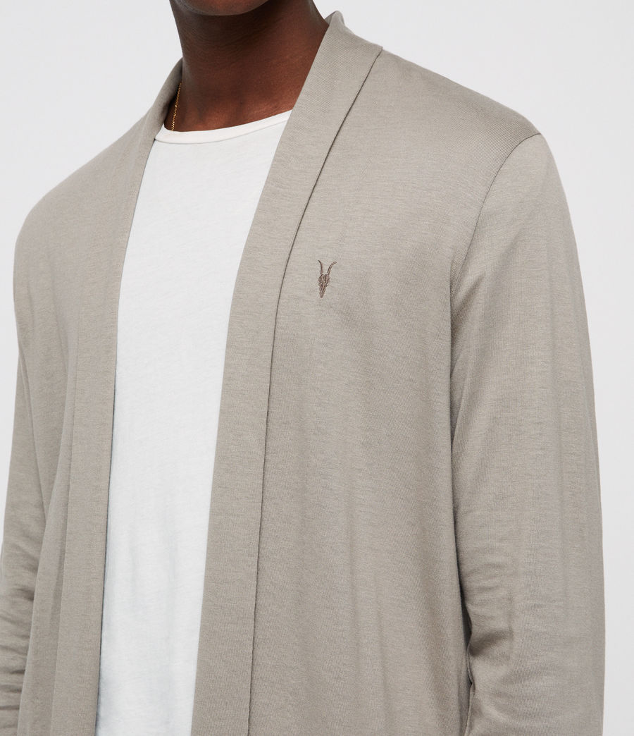 Men's Parlour Open Cardigan (mine_grey) - Image 2