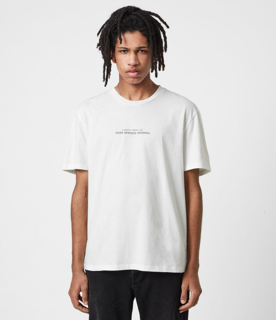 Mens Hadean Crew T-Shirt (natural_ecru) - Image 1