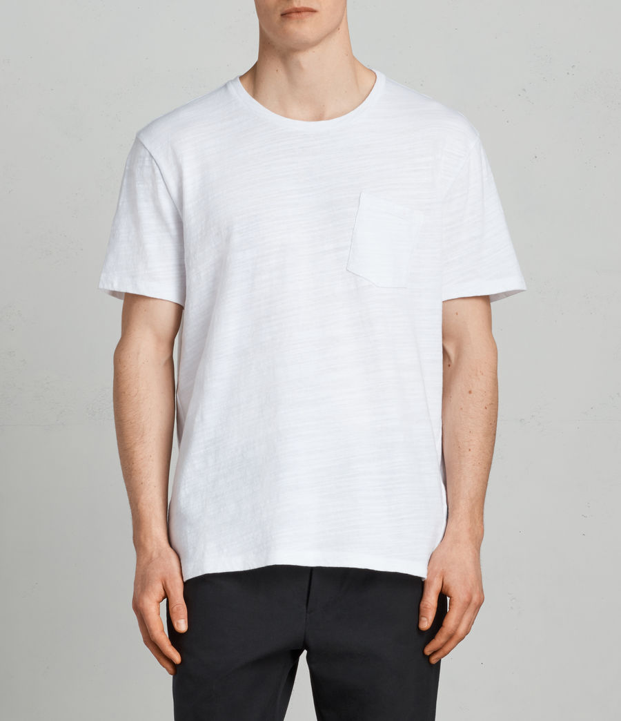 Mens Tye Crew T-Shirt (optic_white) - Image 1