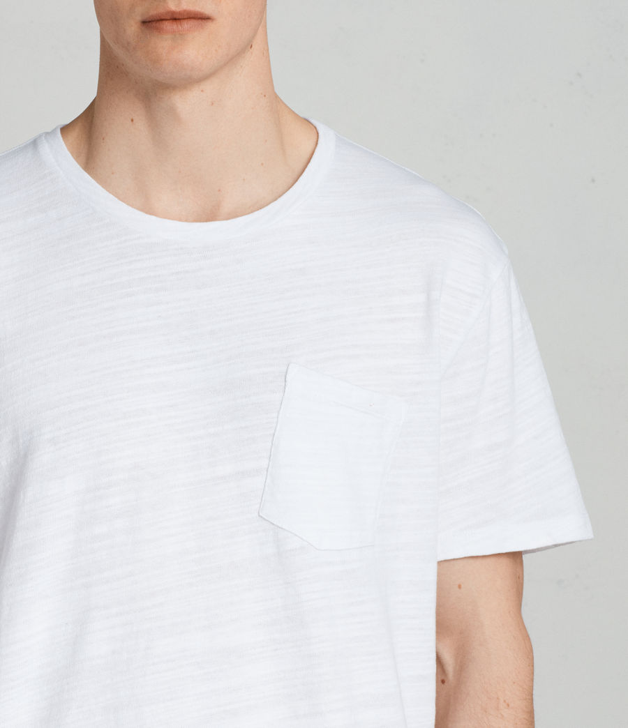 Mens Tye Crew T-Shirt (optic_white) - Image 2