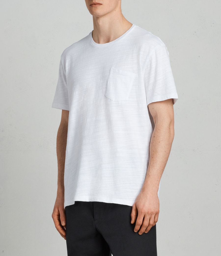Mens Tye Crew T-Shirt (optic_white) - Image 3