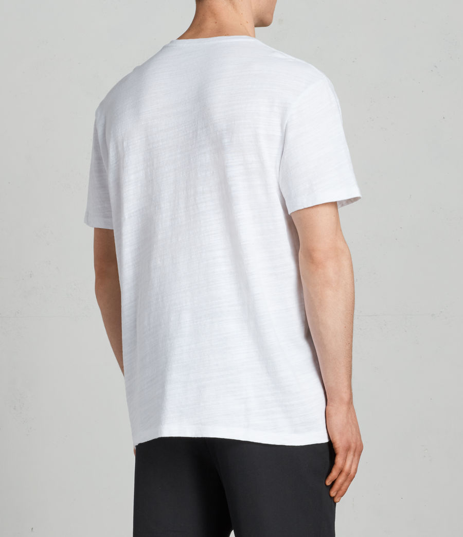 Mens Tye Crew T-Shirt (optic_white) - Image 4