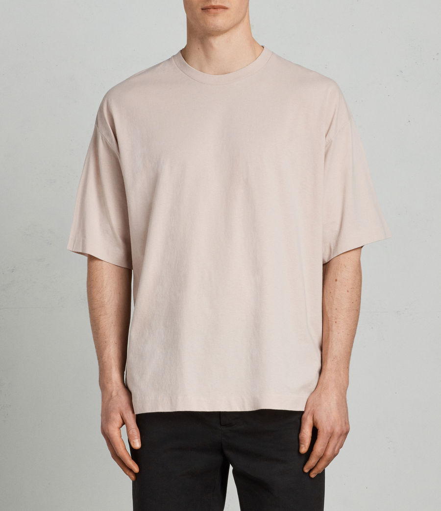 Mens Atnom Crew T-Shirt (river_pink) - Image 1