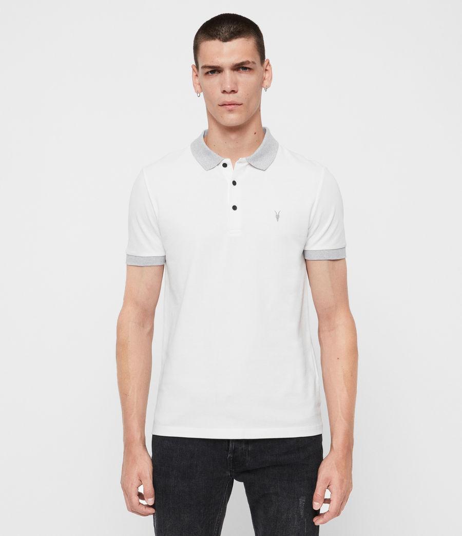 Men's Orlando Short Sleeve Polo Shirt (grey_washed_black) - Image 1