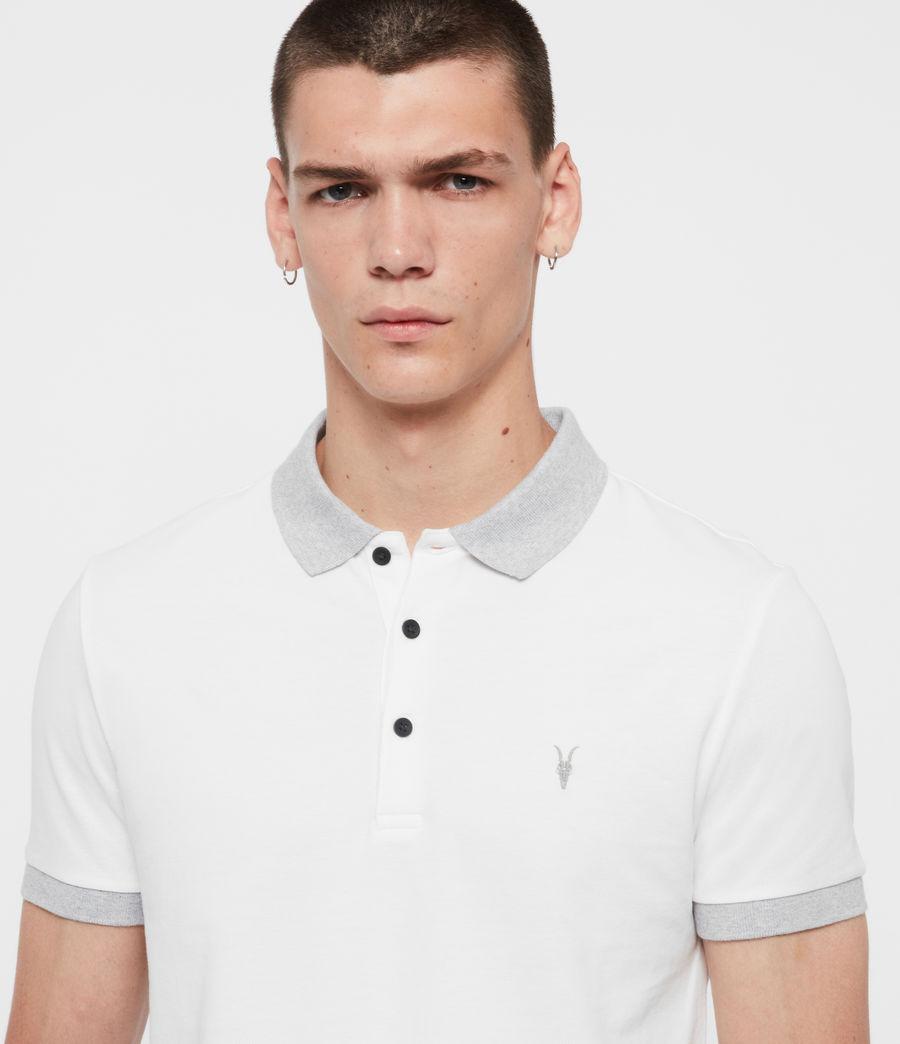 Men's Orlando Short Sleeve Polo Shirt (grey_washed_black) - Image 2