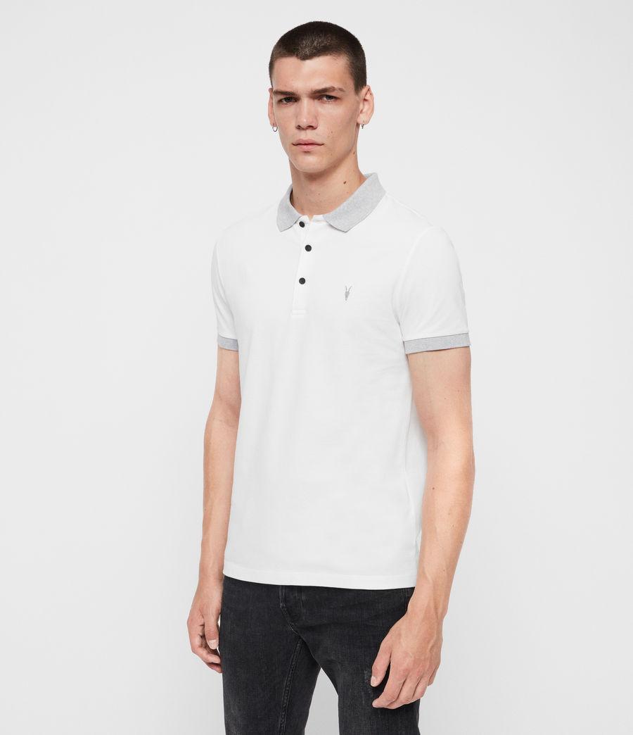 Men's Orlando Short Sleeve Polo Shirt (grey_washed_black) - Image 3