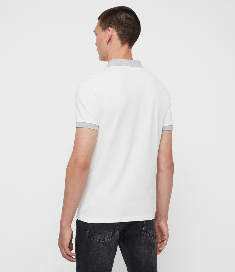 Men's Orlando Short Sleeve Polo Shirt (grey_washed_black) - Image 4