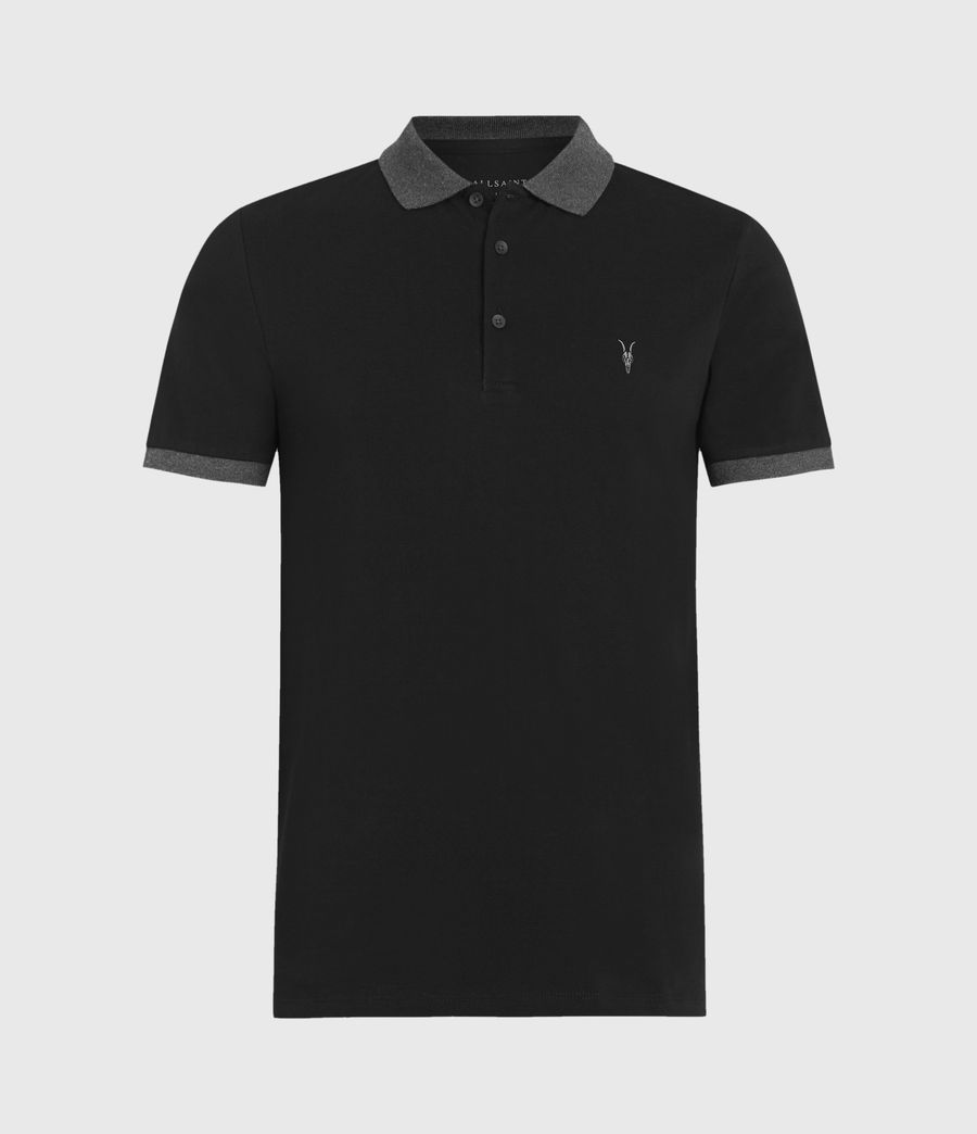 Mens Orlando Polo Shirt (jet_black_charcoal) - Image 2