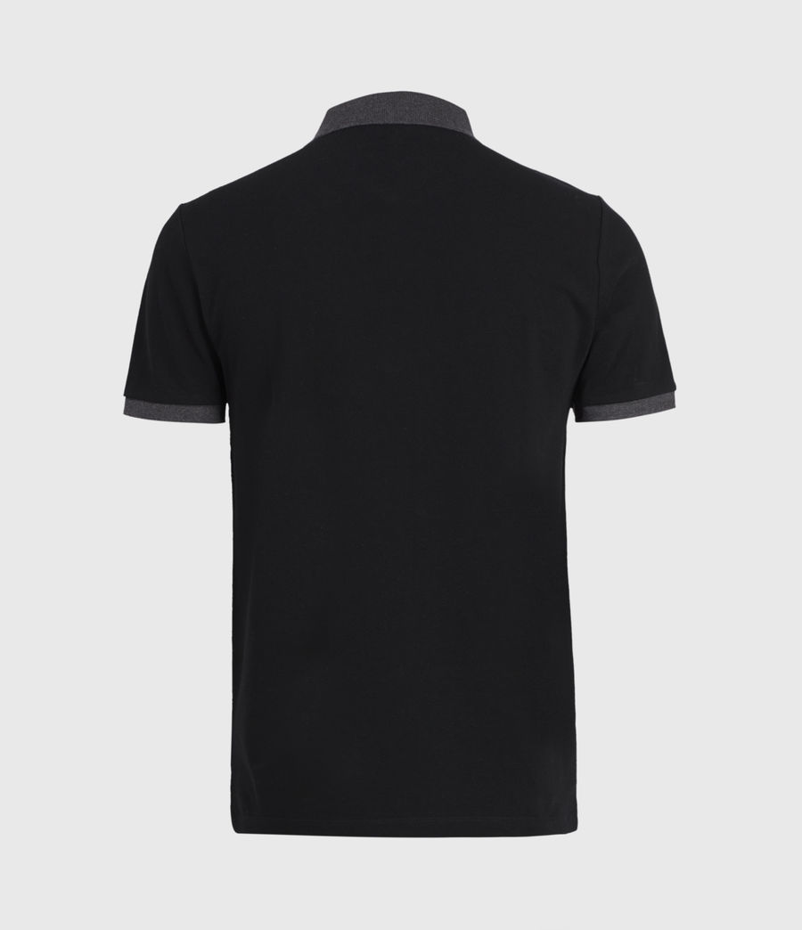 Mens Orlando Polo Shirt (jet_black_charcoal) - Image 3