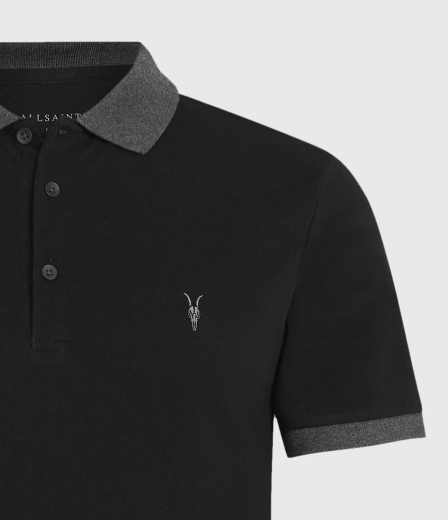 Mens Orlando Polo Shirt (jet_black_charcoal) - Image 5