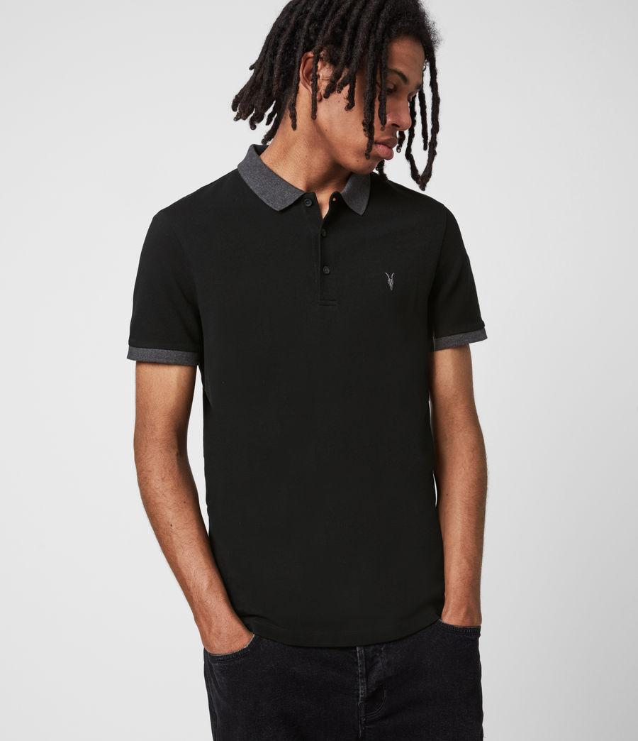 Men's Orlando Short Sleeve Polo Shirt (grey_washed_black) - Image 6