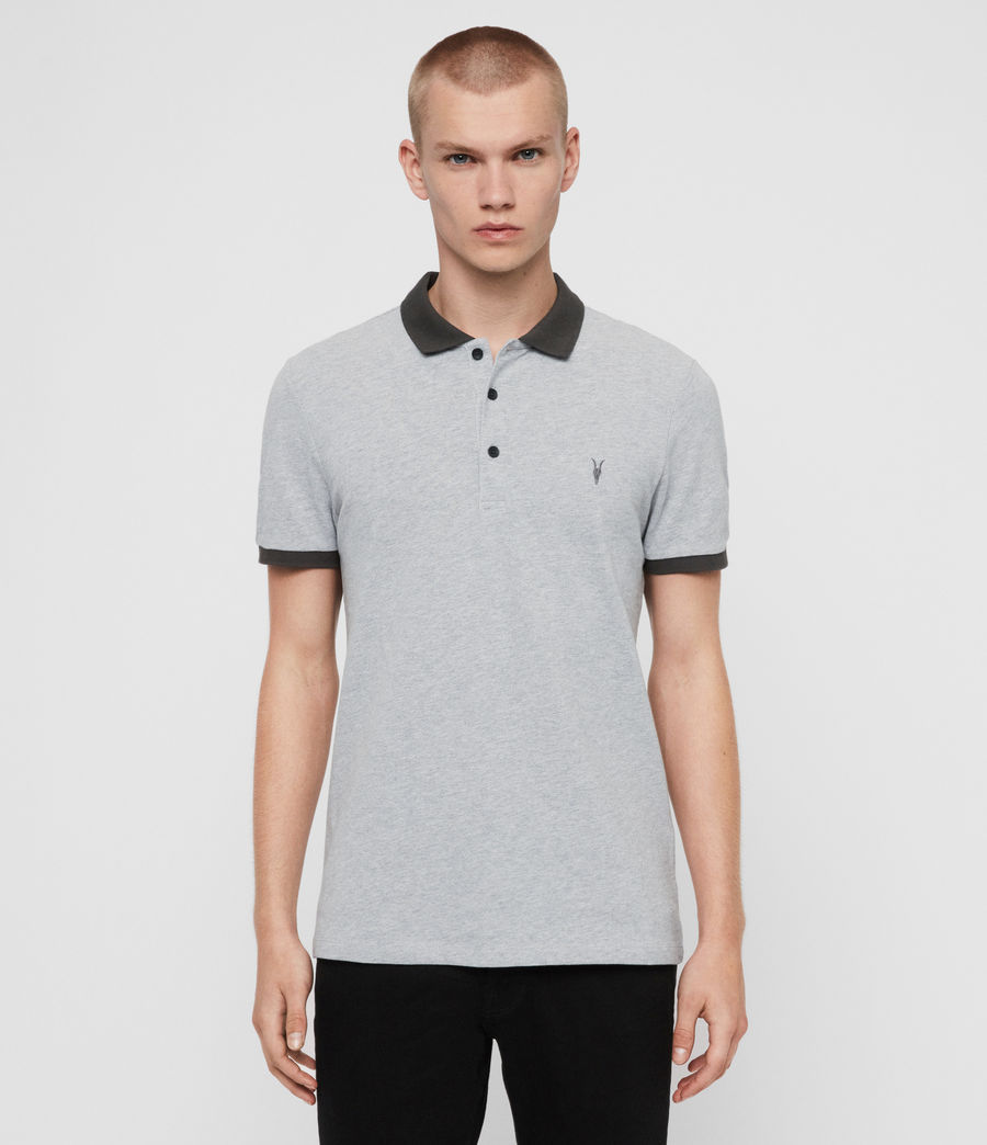 Men's Orlando Short Sleeve Polo Shirt (grey_washed_black) - Image 1