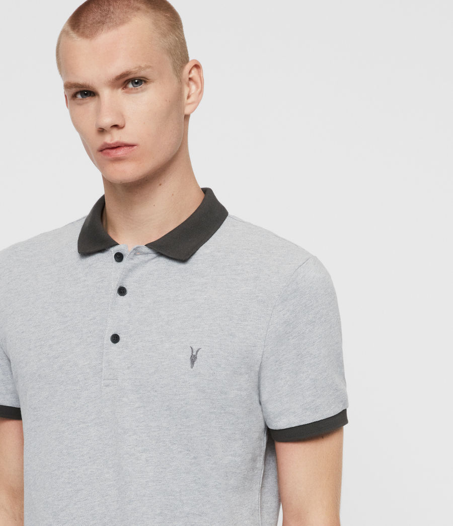 Herren Orlando Polohemd (grey_washed_black) - Image 2