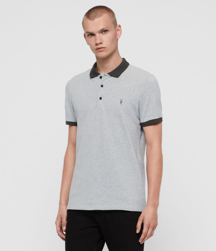 Men's Orlando Short Sleeve Polo Shirt (grey_washed_black) - Image 3