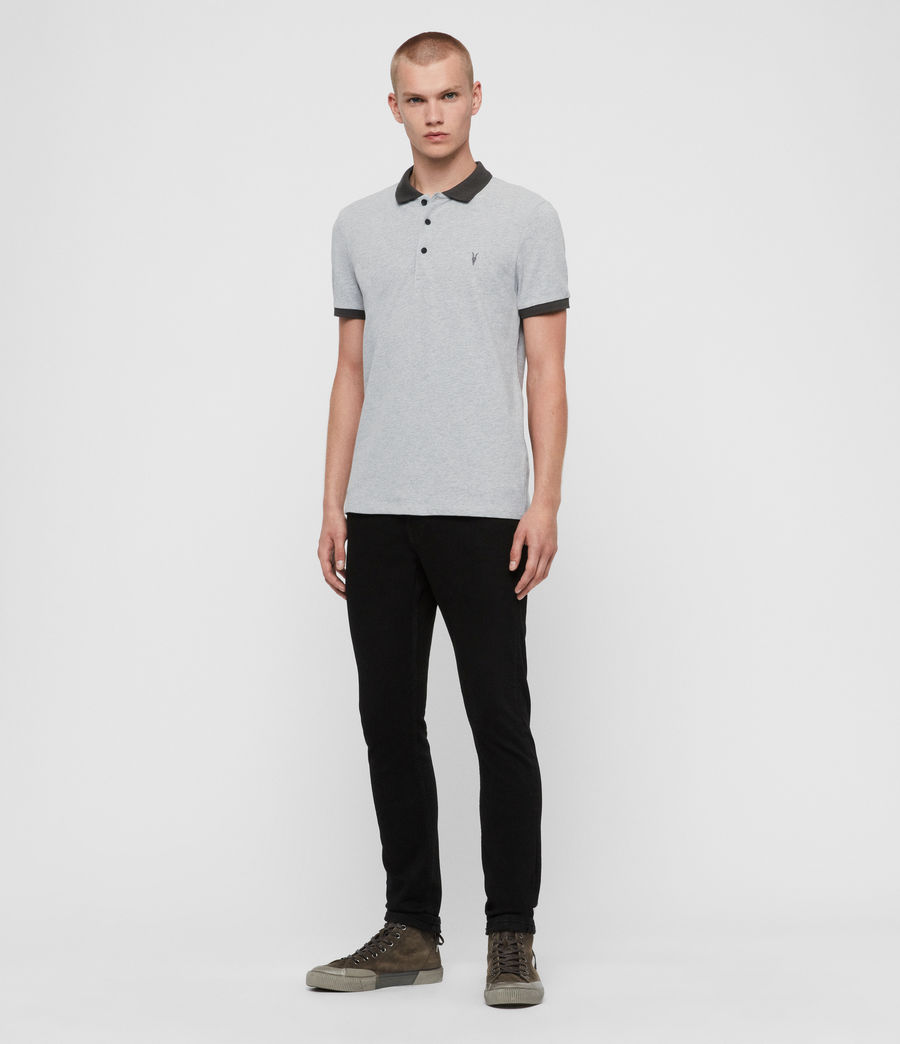 Herren Orlando Polohemd (grey_washed_black) - Image 4