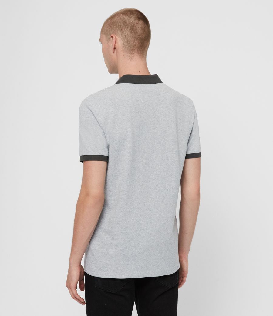 Herren Orlando Polohemd (grey_washed_black) - Image 5