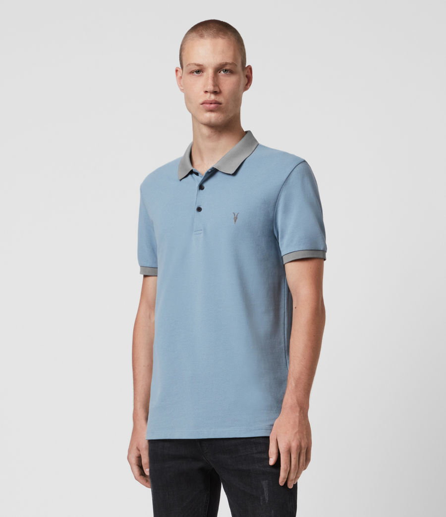 Hommes Polo Orlando (grey_washed_black) - Image 1