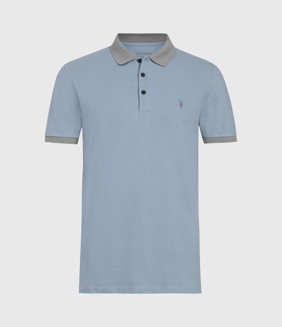 Men's Orlando Short Sleeve Polo Shirt (grey_washed_black) - Image 2